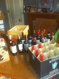 Sorting out wine collection